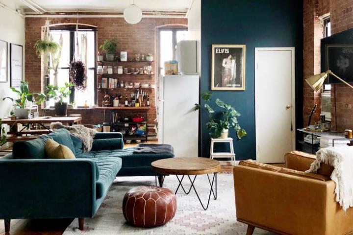 Небольшая квартира-лофт в Бруклине