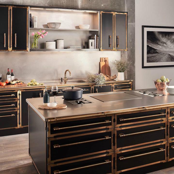 Идея дизайна кухни в парижском стиле 8