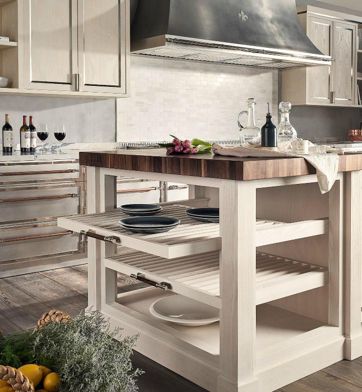 Идея дизайна кухни в парижском стиле 9