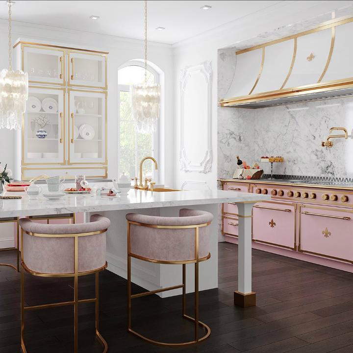 Идея дизайна кухни в парижском стиле 2