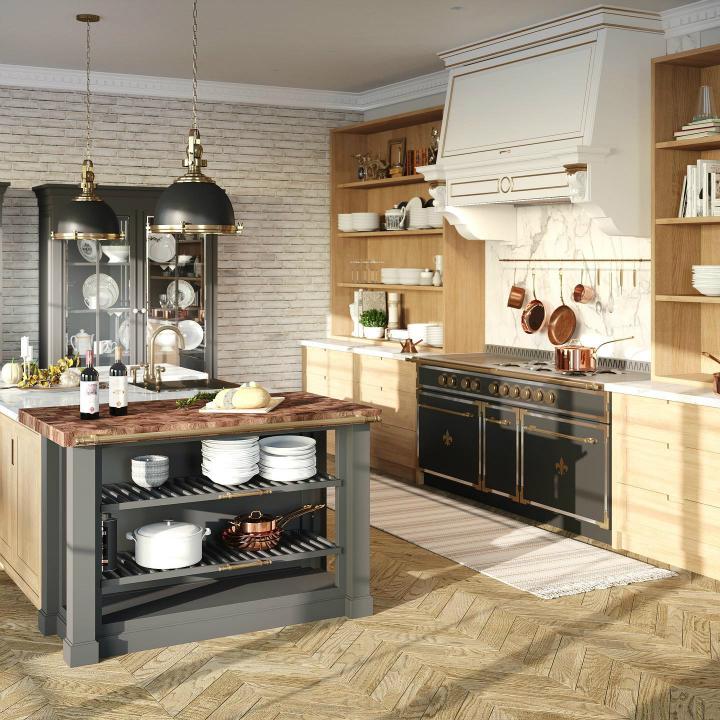 Идея дизайна кухни в парижском стиле 6