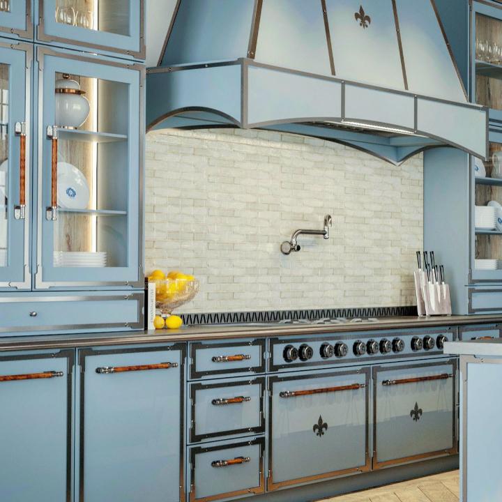 Идея дизайна кухни в парижском стиле 18