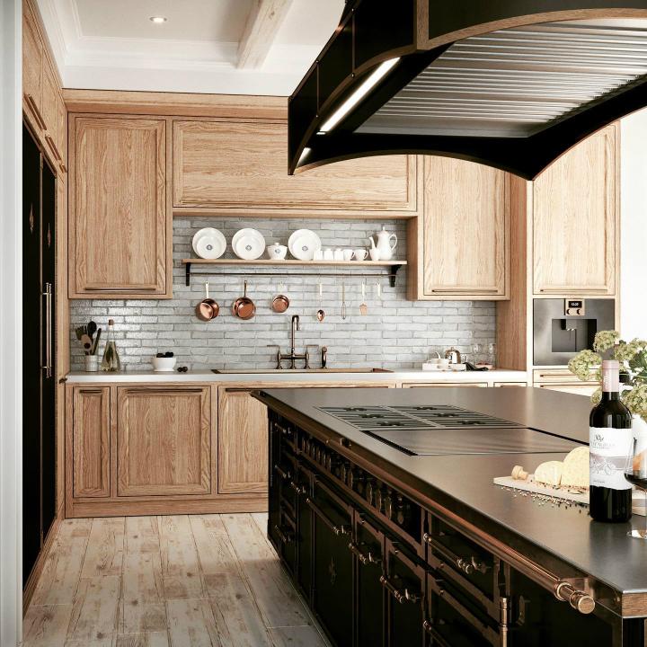 Идея дизайна кухни в парижском стиле 20
