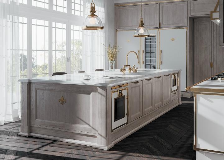 Идея дизайна кухни в парижском стиле 4