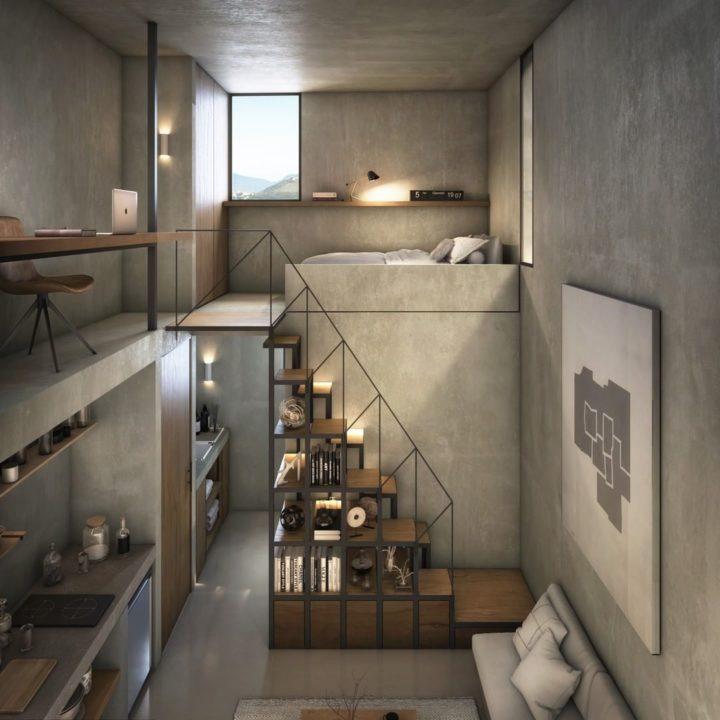 Современная дизайнерская идея Tiny Loft