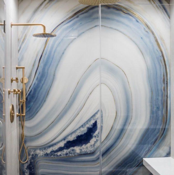 Агатовые реалистичные водонепроницаемые обои для ванной